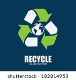 recycle design over blue...   Shutterstock .eps vector #182814953