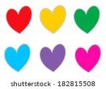 hearts | Shutterstock . vector #182815508