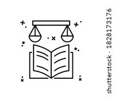 book libra icon. simple line ...