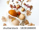 zero waste thanksgiving flat...   Shutterstock . vector #1828188800