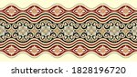 seamless brown arabic floral... | Shutterstock .eps vector #1828196720