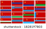 Soviet Member Flag Isolated On...