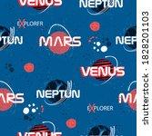 trendy space print. seamless...   Shutterstock .eps vector #1828201103