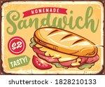 sandwich sign. retro poster... | Shutterstock .eps vector #1828210133