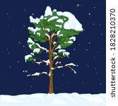 vector cartoon evergreen pine... | Shutterstock .eps vector #1828210370
