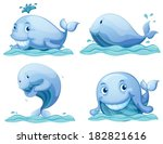 illustration of the blue whales ... | Shutterstock .eps vector #182821616