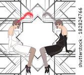 Flapper Girl  Retro Party...