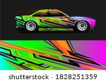 racing car wrap design with... | Shutterstock .eps vector #1828251359