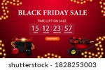 black friday sale  red discount ... | Shutterstock .eps vector #1828253003
