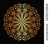 abstract gold luxury mandala ... | Shutterstock .eps vector #1828253846