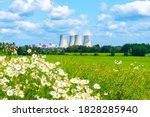 nuclear power plant on the... | Shutterstock . vector #1828285940