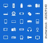 set of flat icons. technology... | Shutterstock .eps vector #182829140
