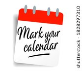 mark your calendar on calendar... | Shutterstock .eps vector #1828297310