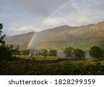 Bright Rainbow In Loch Lomand