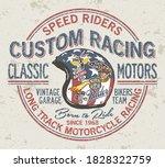 Custom Motorcycle Vintage...
