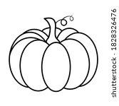 pumpkin outline. autumnal... | Shutterstock .eps vector #1828326476