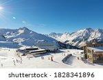 panorama of the austrian ski... | Shutterstock . vector #1828341896