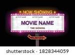 light sign billboard cinema... | Shutterstock .eps vector #1828344059