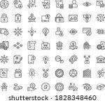 thin outline vector icon set...   Shutterstock .eps vector #1828348460