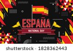 Spain National Day Banner For...