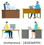 people sitting on their...   Shutterstock .eps vector #1828368590