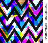 bright zigzag seamless pattern... | Shutterstock .eps vector #1828383353