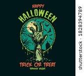 halloween vintage colorful... | Shutterstock .eps vector #1828394789