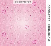 vector hearts background... | Shutterstock .eps vector #182840330