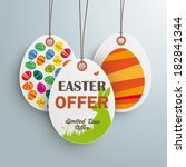 Price Sticker With Text Easter...