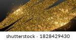 golden glitter particles brush... | Shutterstock .eps vector #1828429430