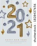 2020 new year poster design.... | Shutterstock .eps vector #1828437656