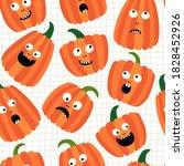 seamless pattern. happy...   Shutterstock .eps vector #1828452926
