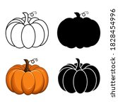 pumpkin vector set isolated on... | Shutterstock .eps vector #1828454996