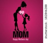 happy mothers day. vector... | Shutterstock .eps vector #182846288