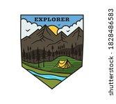 mountain explorer logo  camping ... | Shutterstock .eps vector #1828486583