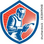 illustration of welder worker... | Shutterstock .eps vector #182849048