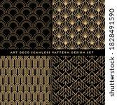 art deco style seamless pattern ... | Shutterstock .eps vector #1828491590