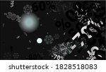 percent sings on dark...   Shutterstock .eps vector #1828518083
