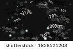 percent sings on dark...   Shutterstock .eps vector #1828521203