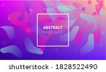 fluid shapes. banner design...   Shutterstock .eps vector #1828522490