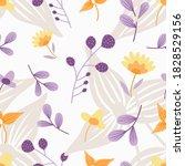 flower pattern background.... | Shutterstock .eps vector #1828529156