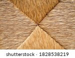 Wicker Straw Texture Close Up...