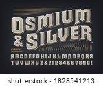 osmium   silver ornate font.... | Shutterstock .eps vector #1828541213