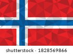 low poly norway flag vector... | Shutterstock .eps vector #1828569866