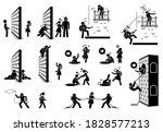 romance and love stick figure... | Shutterstock .eps vector #1828577213