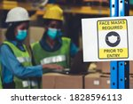 Caution Sign In Factory Warning ...