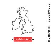 Minimal Editable Stroke Uk Map...