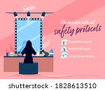 we are open salon with all... | Shutterstock .eps vector #1828613510
