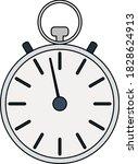 icon of stopwatch. editable...