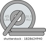 icon of barbell disks. editable ...